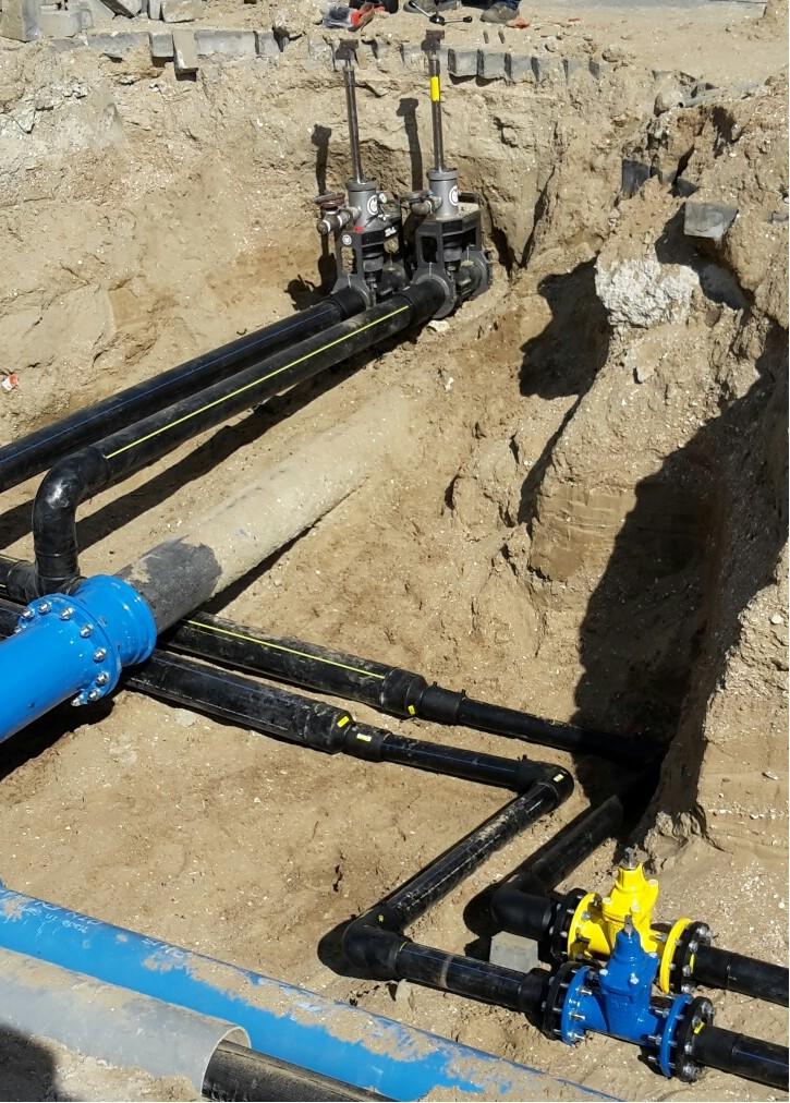 Plaatsen van stoppels op bestaande leidingen