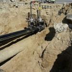 Plaatsen stoppels op bestaande leidingen
